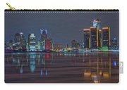 Detroit Skyline From Windsor In Hdr Carry-all Pouch