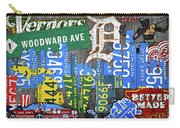 Detroit The Motor City Michigan License Plate Art Collage Carry-all Pouch