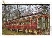 Devastation Railroad Passenger Train Car Fire Art Carry-all Pouch