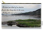 Devotion By Poet Robert Frost Carry-all Pouch