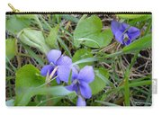 Dew Covered Wild Violets Carry-all Pouch
