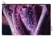Dew Drops And Purple Rose Carry-all Pouch