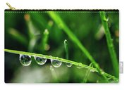 Dew Drops On Blade Of Grass Carry-all Pouch