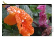 Dewy Pansy 2 - Side View Carry-all Pouch