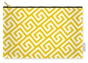 Diagonal Greek Key With Border In Mustard Carry-all Pouch