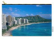 Diamond Head And Waikiki Carry-all Pouch