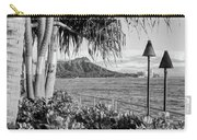 Diamond Head In Black And White Carry-all Pouch