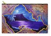 Diamond Head Moon Oahu #141 Carry-all Pouch