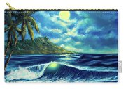 Diamond Head Moon Waikiki Beach #407 Carry-all Pouch
