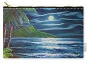 Diamond Head Moon Waikiki Beach  #409 Carry-all Pouch