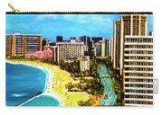 Diamond Head Waikiki Beach Kalakaua Avenue #94 Carry-all Pouch
