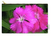 Dianthus First Love Flower Print Carry-all Pouch