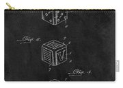 Dice Cube Patent Carry-all Pouch