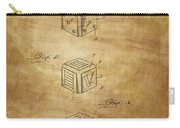 Dice Patent From 1923 Carry-all Pouch