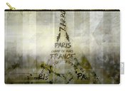 Digital-art Paris Eiffel Tower Geometric Mix No.1 Carry-all Pouch by Melanie Viola
