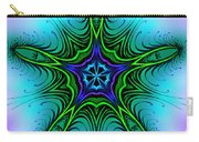 Digital Kaleidoscope Green Star 001 Carry-all Pouch