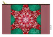 Digital Kaleidoscope Red-green-white 8 Carry-all Pouch