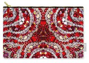 Digital Kaleidoscope Red-white 1 Carry-all Pouch