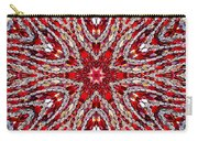 Digital Kaleidoscope Red-white 4 Carry-all Pouch