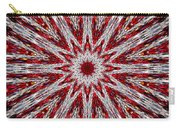 Digital Kaleidoscope Red-white 7 Carry-all Pouch