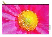 Digital Watercolour Of A Pink Daisy Pollen Flower Carry-all Pouch