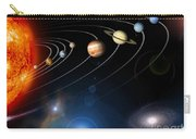 Digitally Generated Image Of Our Solar Carry-all Pouch