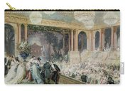Dinner At The Tuileries Carry-all Pouch by Henri Baron