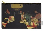 Dinner By Lamplight Carry-all Pouch by Felix Edouard Vallotton