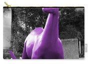 Dino Selective Coloring In Ultra Violet Purple Photography By Colleen Carry-all Pouch