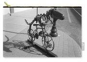 Dinosaur Biking Sculpture Grand Junction Co Carry-all Pouch