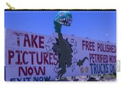 Dinosaur Sign Take Pictures Now Carry-all Pouch