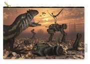 Dinosaurs And Robots Fight A War Carry-all Pouch