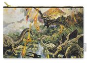 Dinosaurs And Volcanoes Carry-all Pouch