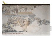 Dionysus Mosaic Mona Lisa Of The Galilee Carry-all Pouch by Ilan Rosen