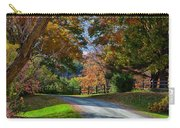Dirt Road Through Vermont Fall Foliage Carry-all Pouch