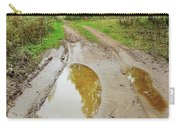 Dirty Autumn Road With Brown Pools After Rain Carry-all Pouch