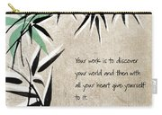 Discover Your World Carry-all Pouch by Linda Woods