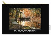Discovery Inspirational Motivational Poster Art Carry-all Pouch by Christina Rollo