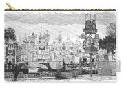 Disneyland Small World Panorama Pa Bw Carry-all Pouch