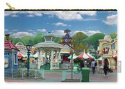 Disneyland Toontown Young Man Proposing To His Lady Panorama Carry-all Pouch
