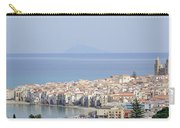 Distant View Of Cefalu Sicily Carry-all Pouch