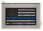Distressed Thin Blue Line Carry-all Pouch