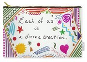 Divine Creation Doodle Quote Carry-all Pouch