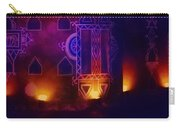 Diwali Card Lamps And Murals Blue Orange India Rajasthan 2f Carry-all Pouch