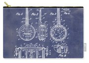Dixie Banjolele Patent 1954 In Grunge Blue Carry-all Pouch