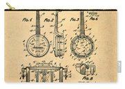 Dixie Banjolele Patent 1954 In Sepia Carry-all Pouch