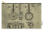 Dixie Banjolele Patent 1954 In Weathered Carry-all Pouch