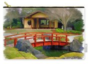 Do-00006 Cypress Bridge And Tea House Carry-all Pouch