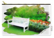 Do-00138 White Bench Carry-all Pouch