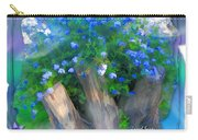 Do-00148 Bushy Blue Flowers Carry-all Pouch